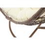 Kép 12/14 - Függő fotel, barna/krém, KALEA NEW