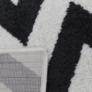 Kép 7/9 - Szőnyeg, elefántcsont/sötétszürke, 133x190, ADISA