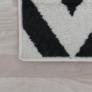 Kép 8/9 - Szőnyeg, elefántcsont/sötétszürke, 133x190, ADISA