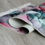 Kép 4/8 - Szőnyeg, rózsaszín/zöld/bézs/minta, 80x150, DELILA