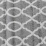 Kép 6/11 - Szőnyeg, világosszürke/minta elefántcsont, 57x90, DESTA