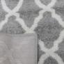 Kép 8/11 - Szőnyeg, világosszürke/minta elefántcsont, 57x90, DESTA