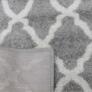 Kép 9/11 - Szőnyeg, világosszürke/minta elefántcsont, 57x90, DESTA