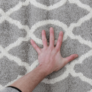 Kép 10/11 - Szőnyeg, világosszürke/minta elefántcsont, 100x150, DESTA