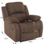 Kép 2/12 - Állítható relaxáló fotel, barna szövet, ASKOY
