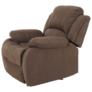 Kép 6/12 - Állítható relaxáló fotel, barna szövet, ASKOY