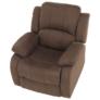 Kép 7/12 - Állítható relaxáló fotel, barna szövet, ASKOY