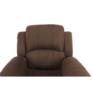 Kép 10/12 - Állítható relaxáló fotel, barna szövet, ASKOY