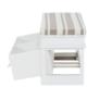 Kép 3/11 - Lóca párnával, 2 fiók, fehér/világosbarna, SEAT BENCH 1 NEW