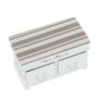 Kép 7/11 - Lóca párnával, 2 fiók, fehér/világosbarna, SEAT BENCH 1 NEW