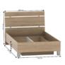 Kép 2/2 - Ágy ágyneműtartóval, tölgy sonoma, 120x200, LUNA