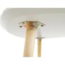 Kép 11/13 - Konzolasztal, fehér/természetes fa TAVAS