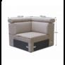 Kép 4/4 - Sarokrész megrendelésre luxus ülőgarnitúrához, bézs MARIETA