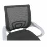 Kép 2/21 - Irodai szék, szürke/fehér, SANAZ TYP 2