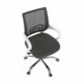 Kép 14/21 - Irodai szék, szürke/fehér, SANAZ TYP 2