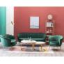 Kép 3/4 - Fotel Art-deco stílusban, smaragd Velvet anyag/gold króm-arany, NOBLIN