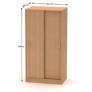 Kép 2/2 - 2 ajtós szekrény tolóajtóval, bükk, BETTY 4 BE04-002-00