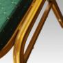 Kép 2/9 - Rakásolható szék, zöld/matt arany keret, ZINA 2 NEW