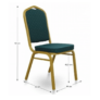 Kép 3/9 - Rakásolható szék, zöld/matt arany keret, ZINA 2 NEW