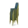 Kép 4/9 - Rakásolható szék, zöld/matt arany keret, ZINA 2 NEW