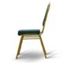 Kép 6/9 - Rakásolható szék, zöld/matt arany keret, ZINA 2 NEW
