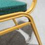 Kép 7/9 - Rakásolható szék, zöld/matt arany keret, ZINA 2 NEW