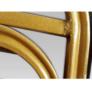 Kép 8/9 - Rakásolható szék, zöld/matt arany keret, ZINA 2 NEW