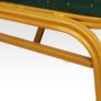 Kép 9/9 - Rakásolható szék, zöld/matt arany keret, ZINA 2 NEW