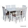 Kép 2/2 - Étkezőasztal, fehér, 135 cm, ASTRO NEW