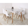 Kép 19/24 - Modern szék, bükk+ fehér, CINKLA 3 NEW