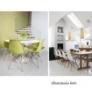 Kép 23/24 - Modern szék, bükk+ fehér, CINKLA 3 NEW