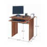 Kép 2/2 - PC asztal, szilva, VERNER NEW