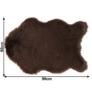 Kép 2/14 - Műszőrme, barna, 60x90, EBONY TYP 3