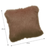 Kép 2/2 - Párna, barna, 45x45, EBONA TYP 3