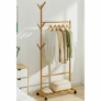 Kép 3/8 - Kerekes akasztó, bambus, 80 cm széles, VIKIR TYP 2