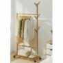 Kép 4/8 - Kerekes akasztó, bambus, 80 cm széles, VIKIR TYP 2