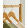 Kép 8/8 - Kerekes akasztó, bambus, 80 cm széles, VIKIR TYP 2